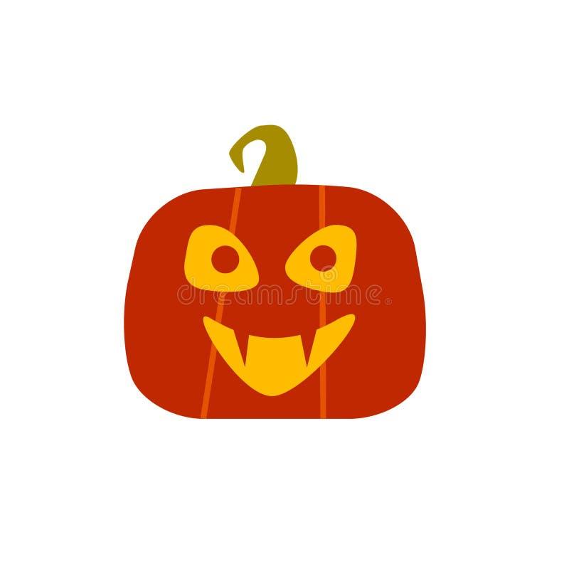 Vampire de potiron de Halloween Design de carte dans le style plat Graphisme de vecteur illustration stock
