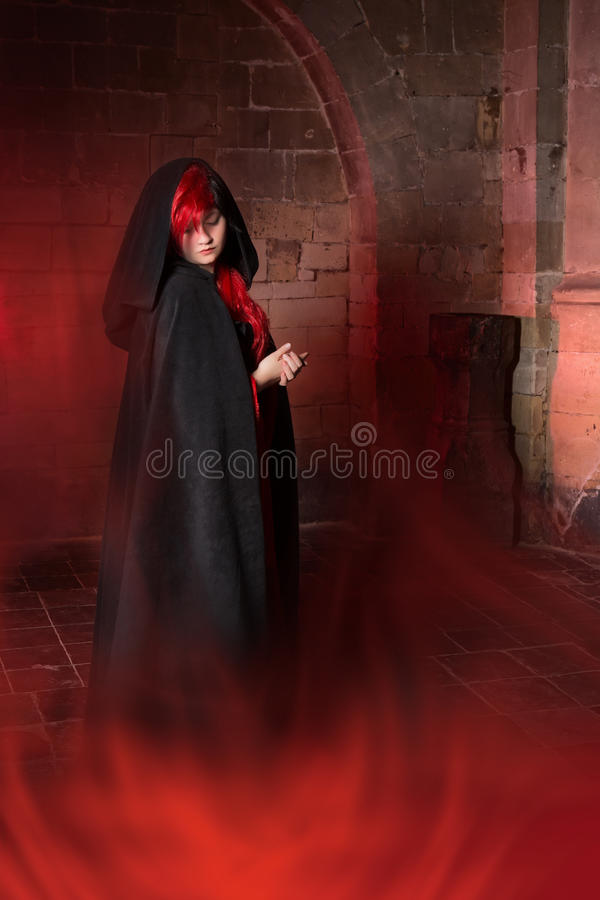 Vampire in the fog royalty free stock images