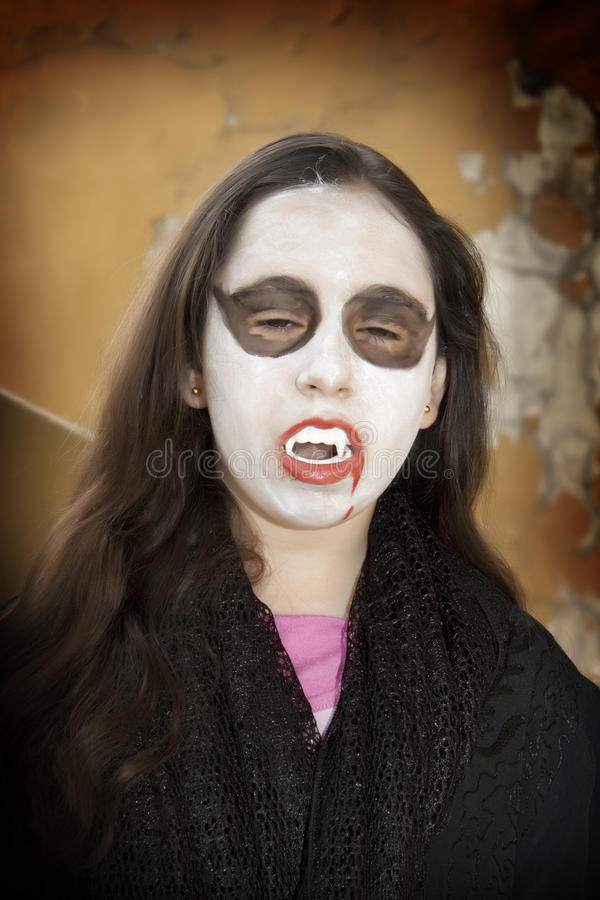 Vampire girl stock photos