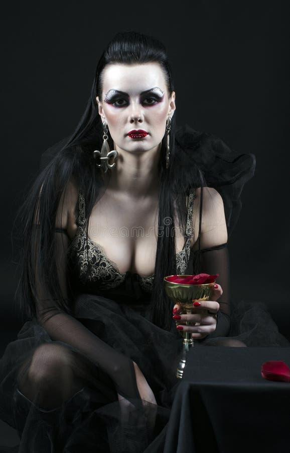 Vampire lady royalty free stock photo