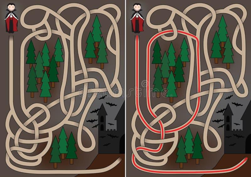 Download Vampire maze stock vector. Image of halloween, black - 27030161