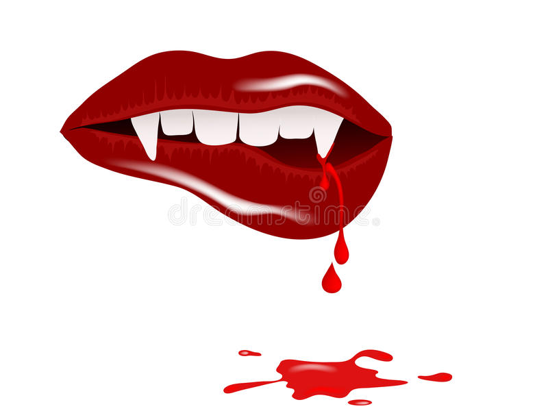 Download Vampire mouth stock image. Image of horror, drop, smile - 28843547