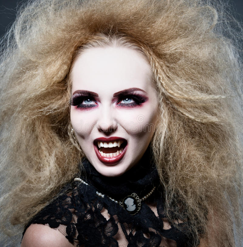 Vampire at night stock photography