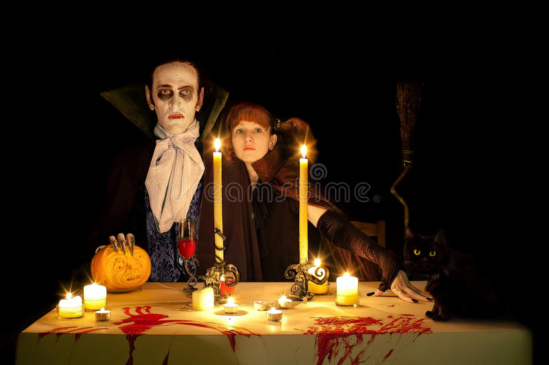 Vampire's halloween royalty free stock photo