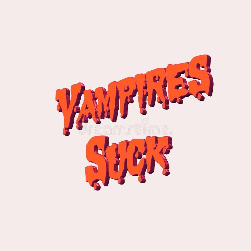 Vampire Sucks Text On White Royalty Free Stock Photography