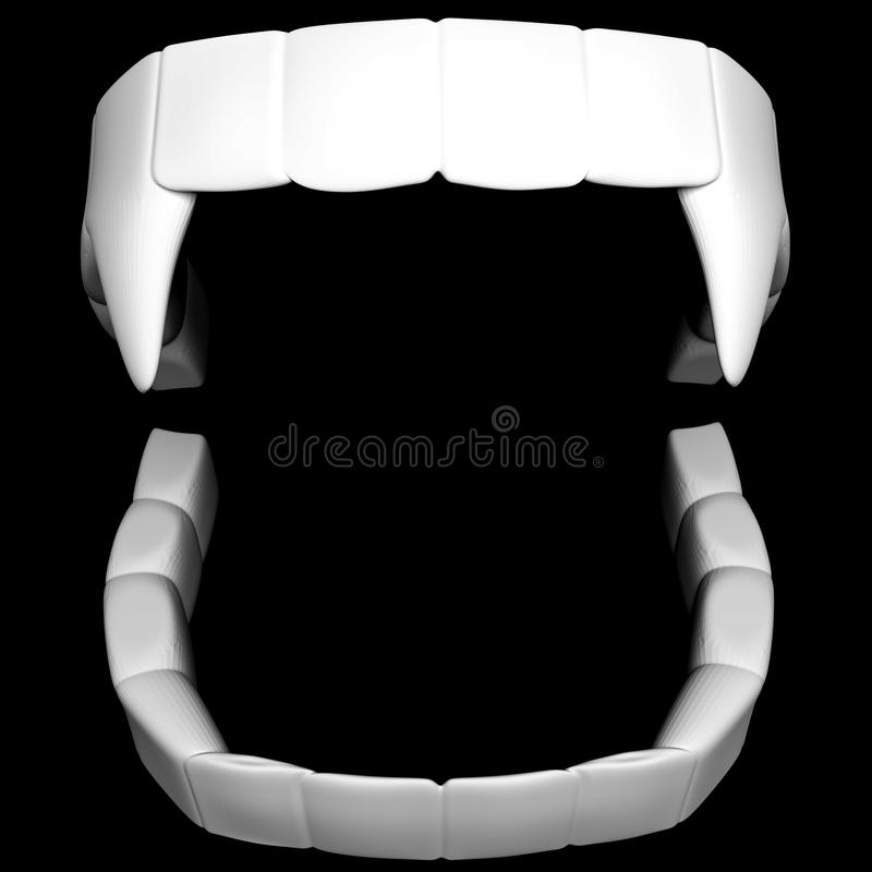Vampire teeth stock illustration