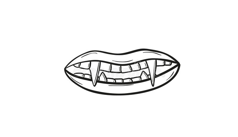 Vampire teeth vector illustration