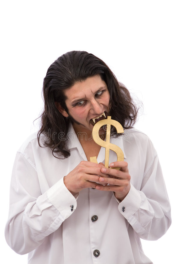Vampire and Us dollar stock photos