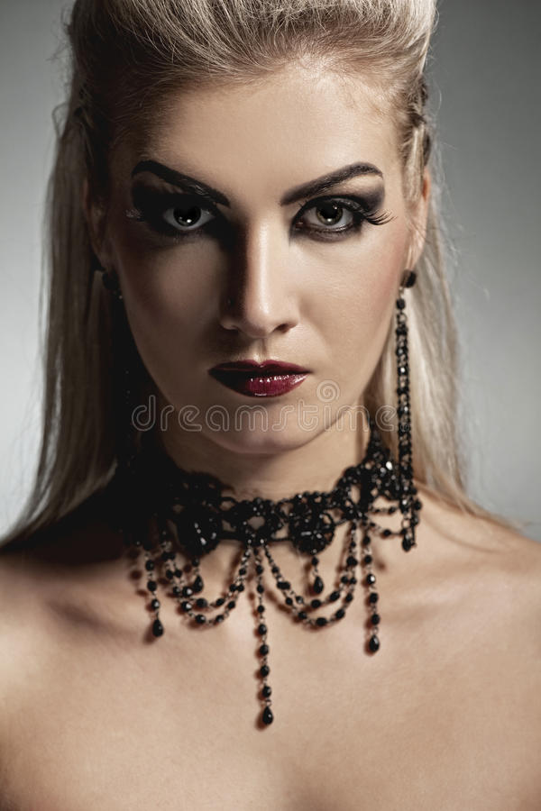 Vampire woman. Picture of a Vampire woman stock images