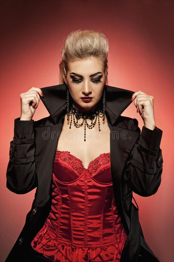 Vampire woman. Picture of a Vampire woman royalty free stock photo