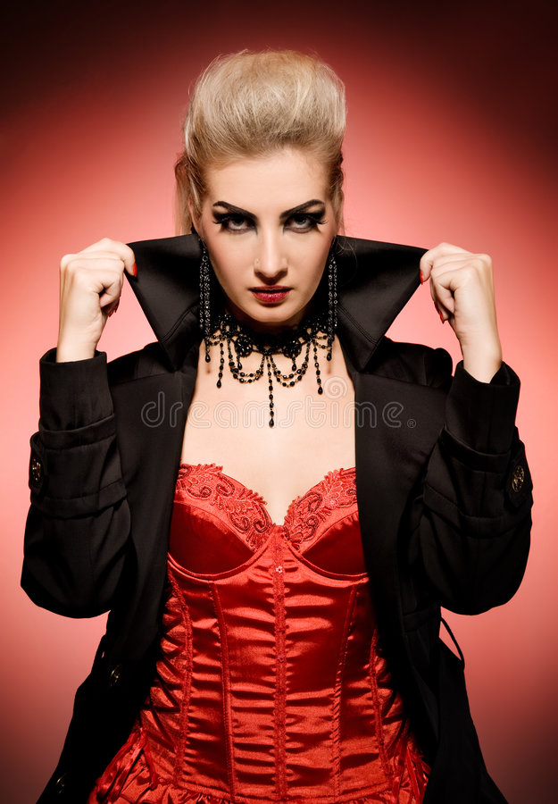 Vampire woman. Picture of a Vampire woman stock image