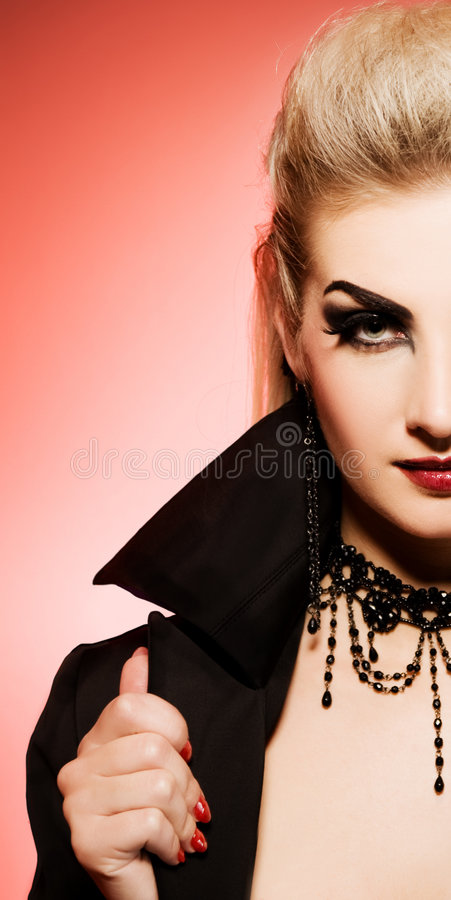 Vampire woman. Picture of a Vampire woman royalty free stock photos