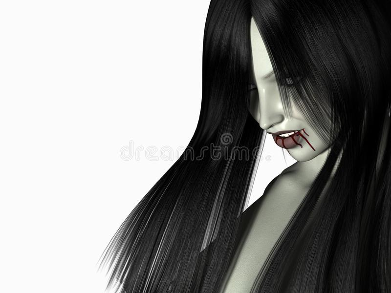 Download Vampire woman stock illustration. Image of makeup, night - 9440649