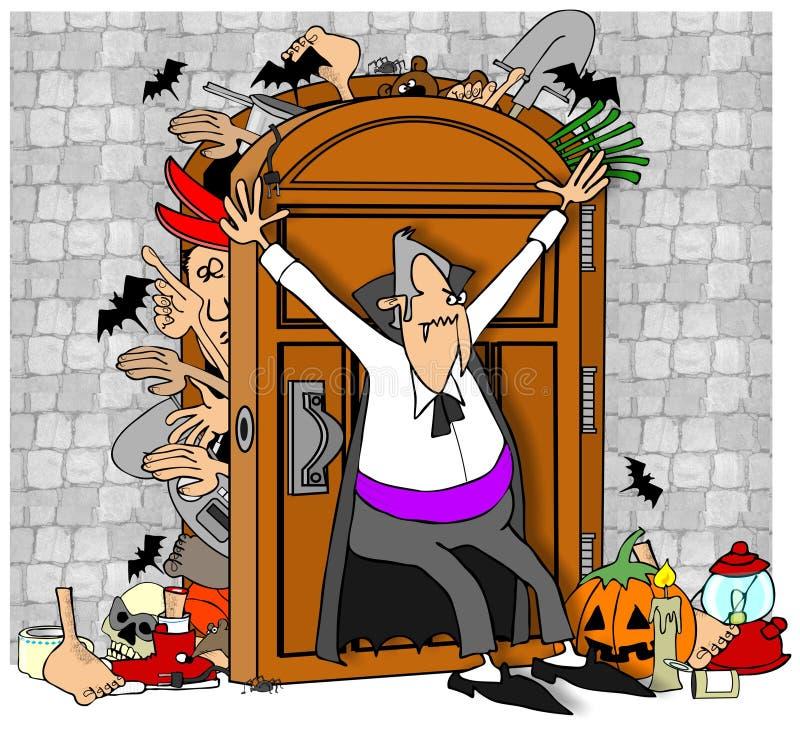 Vampires closet royalty free illustration