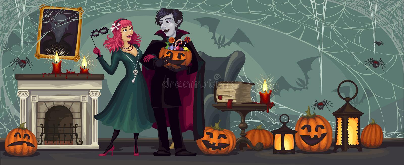 vampires Partido de Halloween traje masquerade fotos de stock