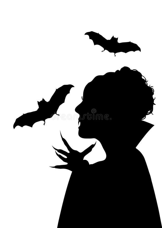 Vampiress e bastões ilustração do vetor