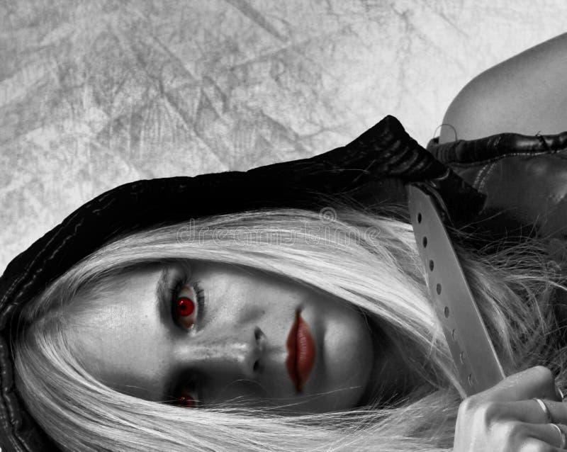 Vampirmädchen stockfoto