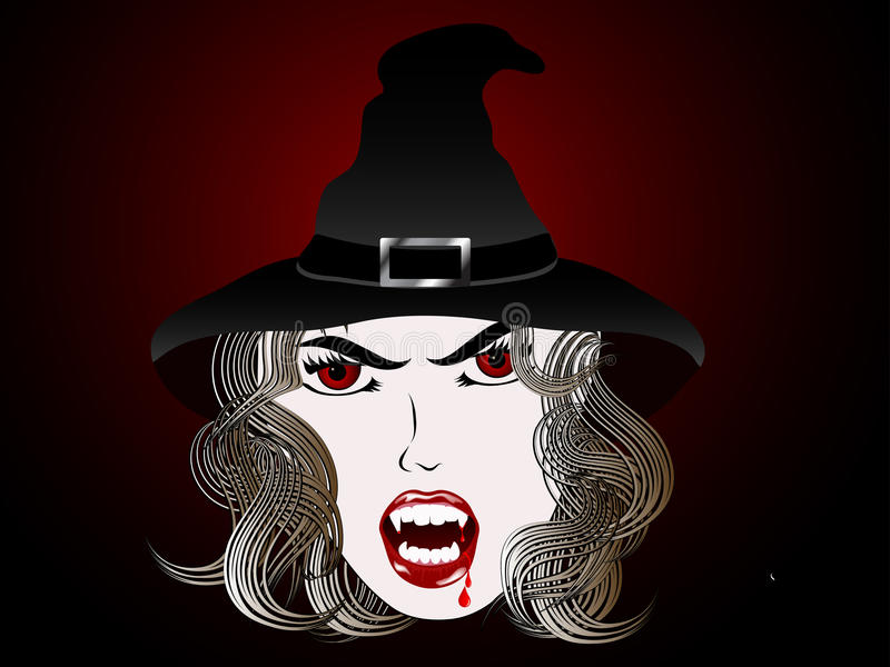 Vampiro ilustração do vetor