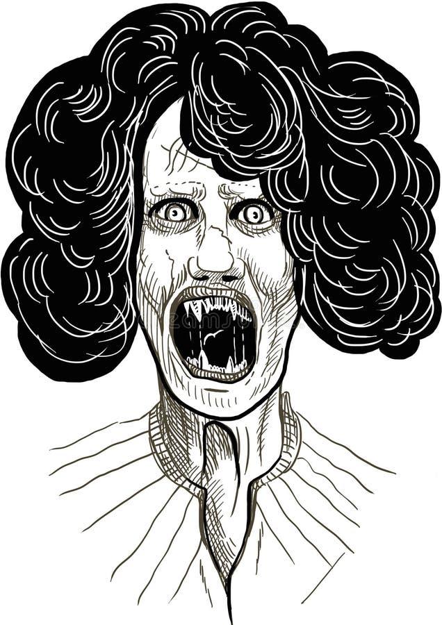 Vampiro assustador ilustração royalty free
