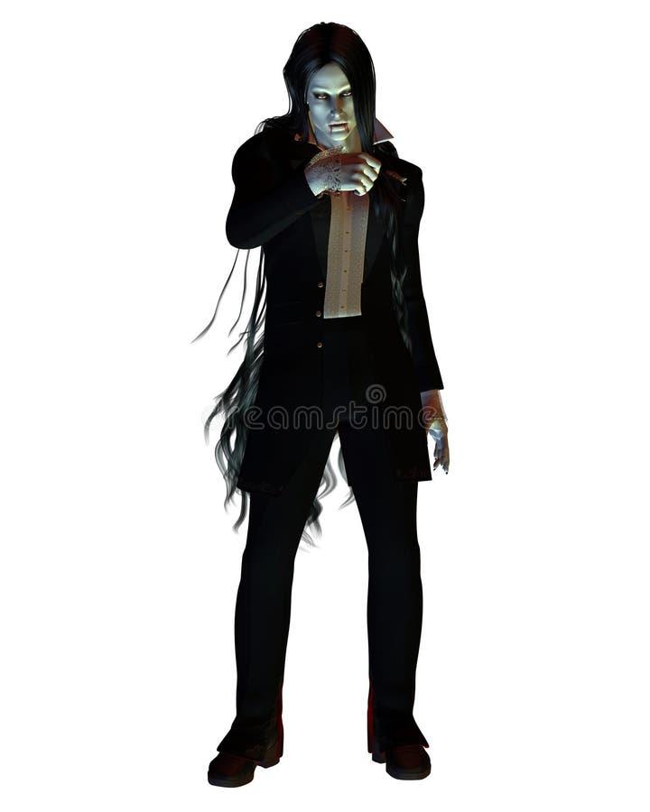 Vampiro dai capelli lunghi royalty illustrazione gratis