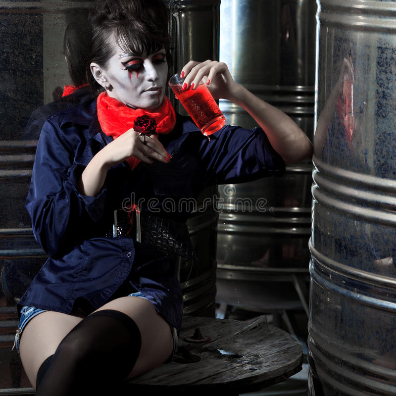 Vampiro de Halloween imagens de stock