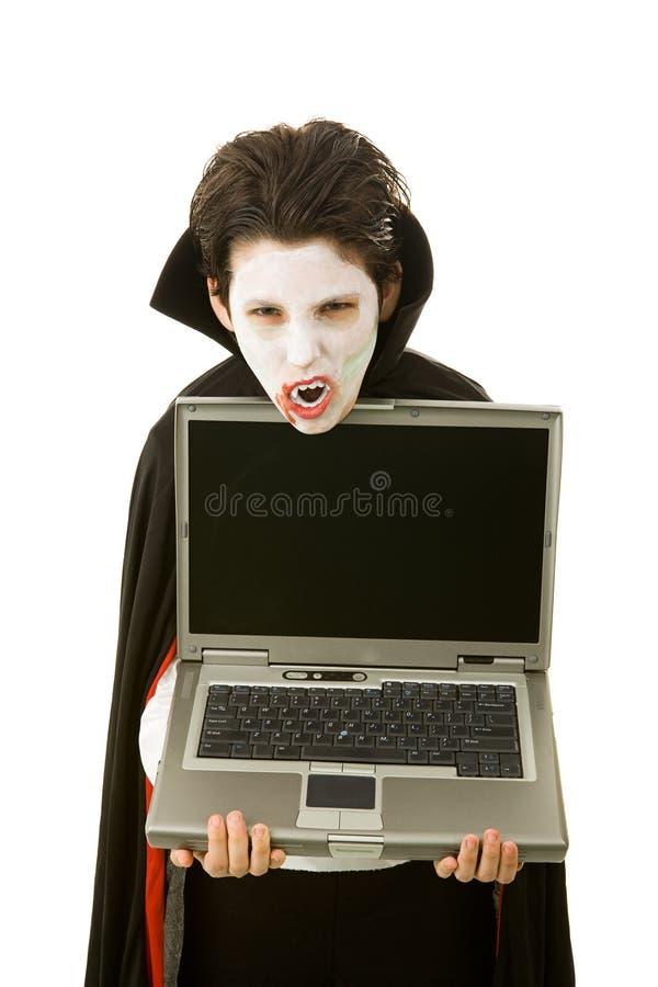Vampiro de Víspera de Todos los Santos con el mensaje imagen de archivo libre de regalías