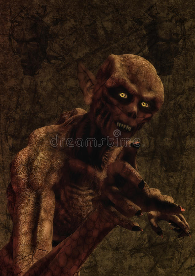 Vampiro del demonio del monstruo ilustración del vector