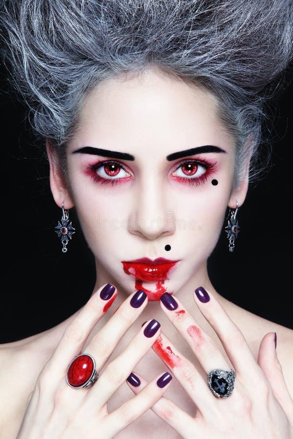 Vampiro di signora immagini stock libere da diritti