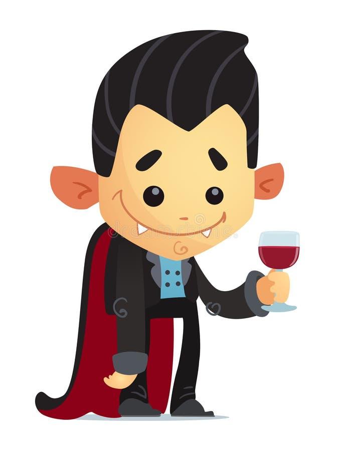 Vampiro dos desenhos animados ilustração stock