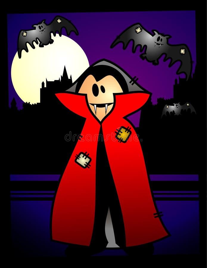 Vampiro dos desenhos animados de Halloween   ilustração stock