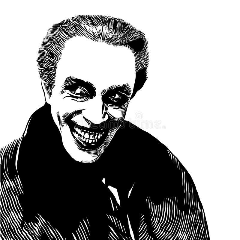 Vampiro Dracula stock de ilustración
