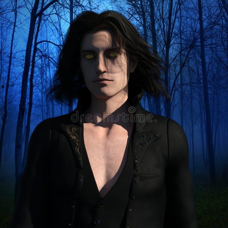 Vampiro en el bosque stock de ilustración