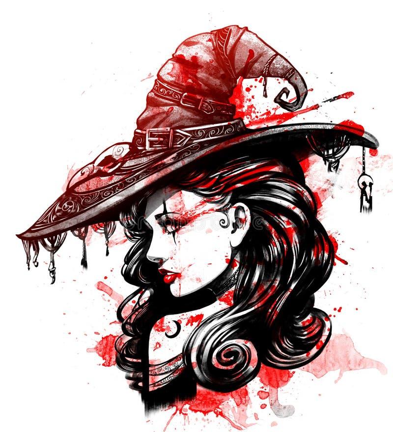 Vampiro encantador da menina ilustração royalty free