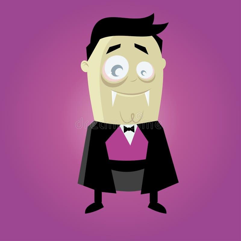 Vampiro engraçado dos desenhos animados ilustração royalty free