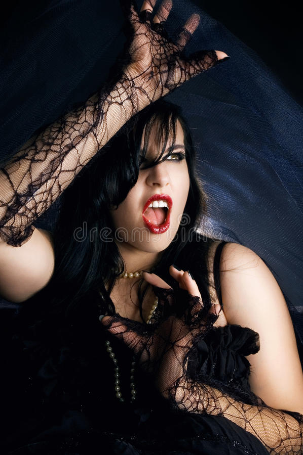Vampiro femenino imagenes de archivo