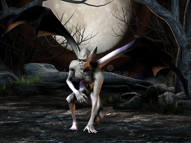 Vampiro - figura de Halloween ilustração stock