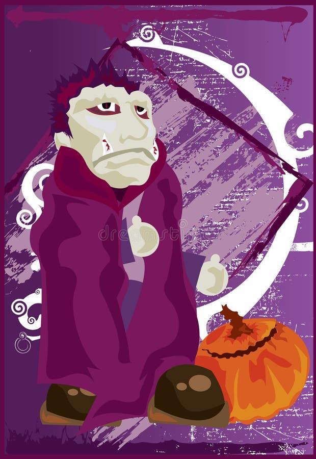 Vampiro lindo ilustración del vector