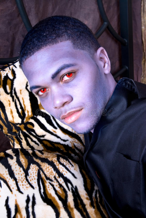 Vampiro negro imagen de archivo