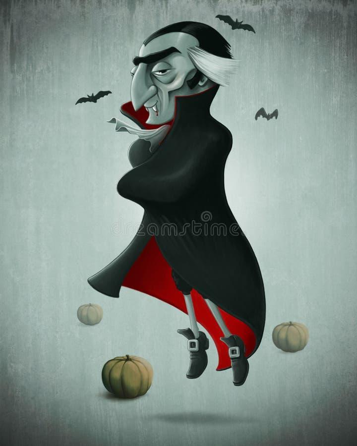 Vampiro o Dia das Bruxas ilustração do vetor