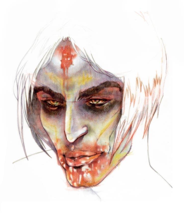 Vampiro oscuro stock de ilustración