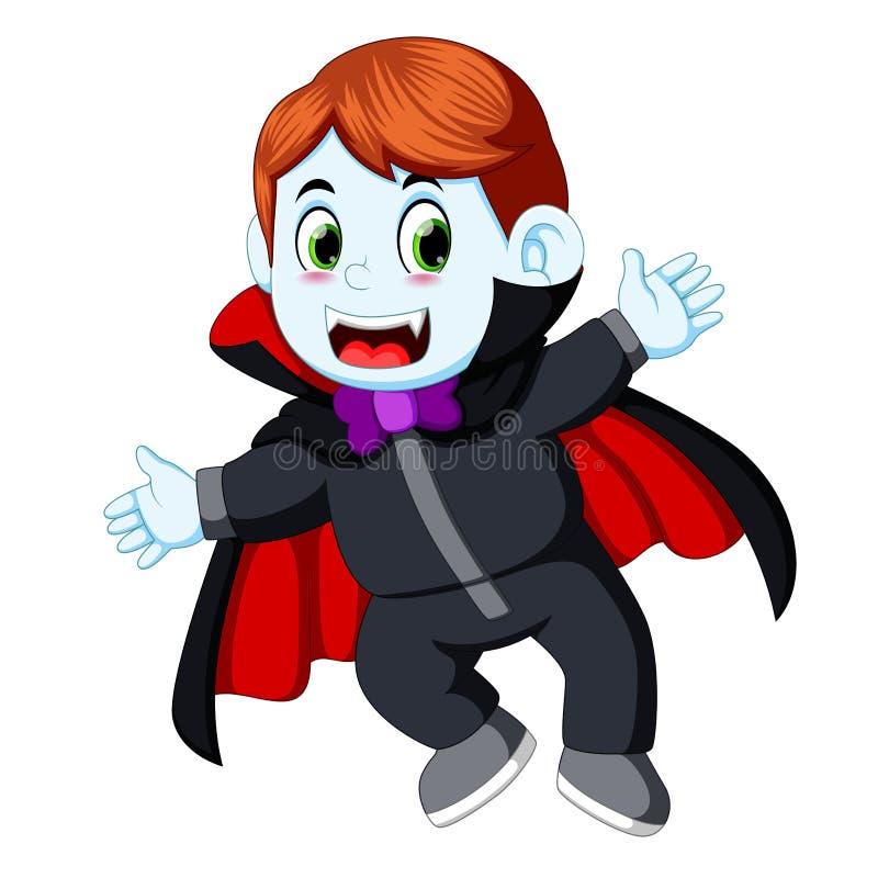 Vampiro pequeno dos desenhos animados engraçados ilustração do vetor