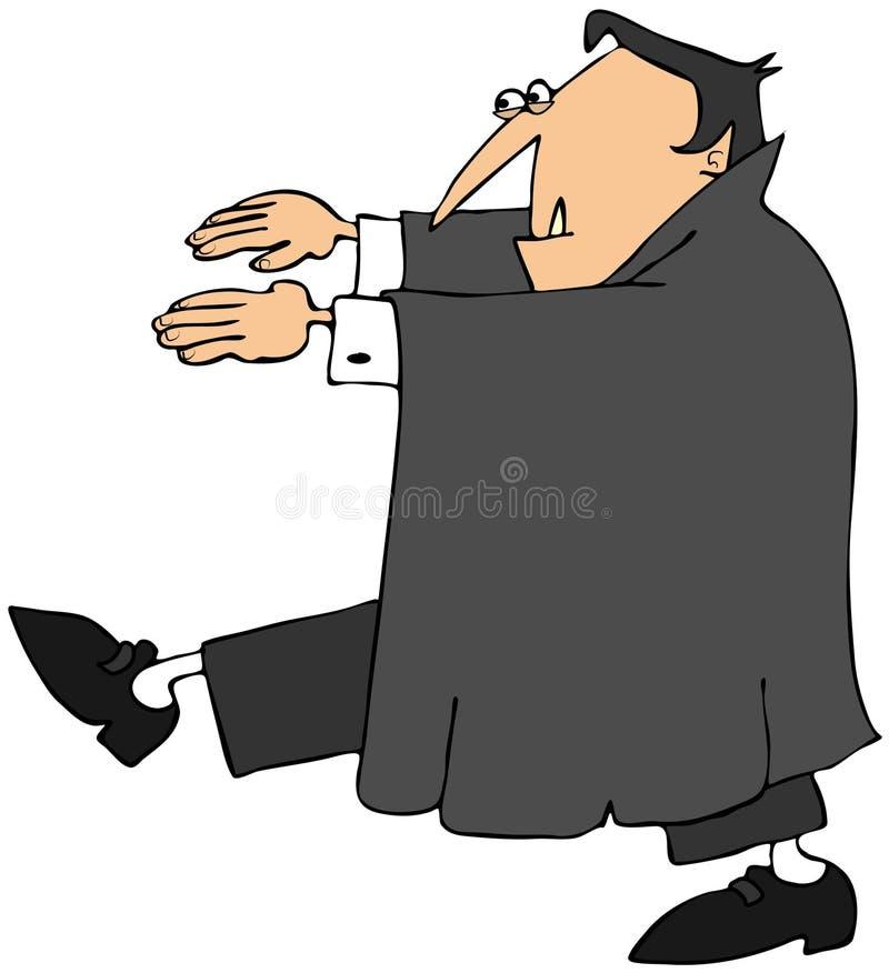 Vampiro que anda em um trance ilustração stock