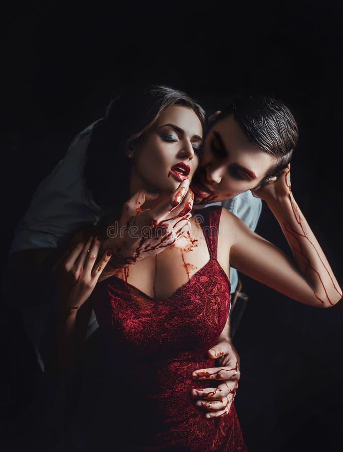 Vampiro 'sexy' da menina fotos de stock