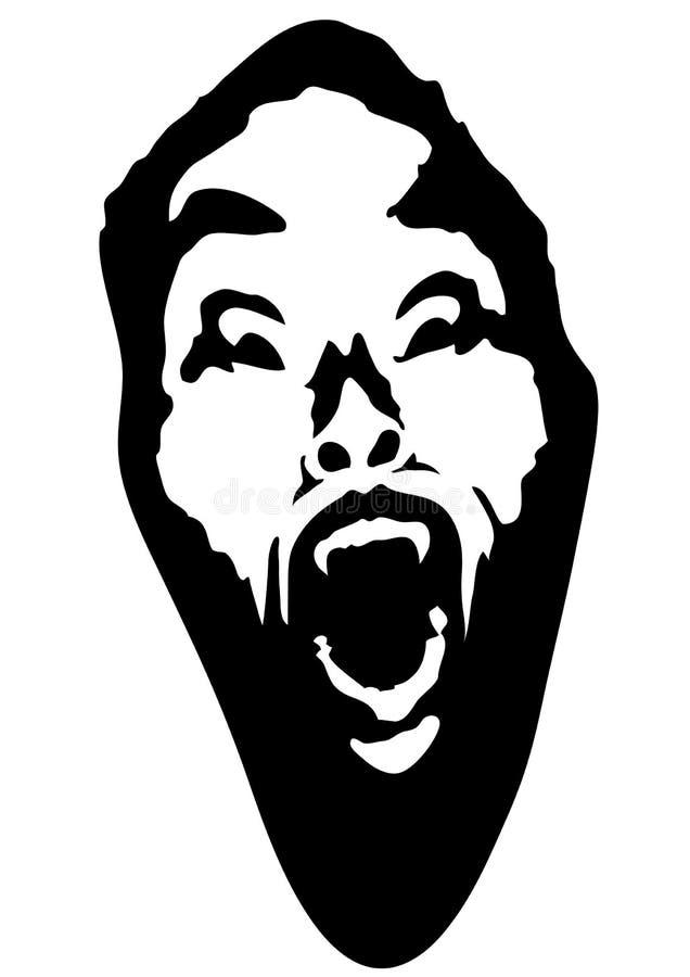 Vampiro (vetor) ilustração royalty free