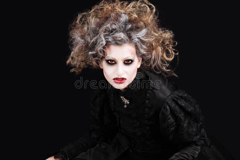 Vampirsfrauenporträt, Halloween bilden lizenzfreies stockfoto