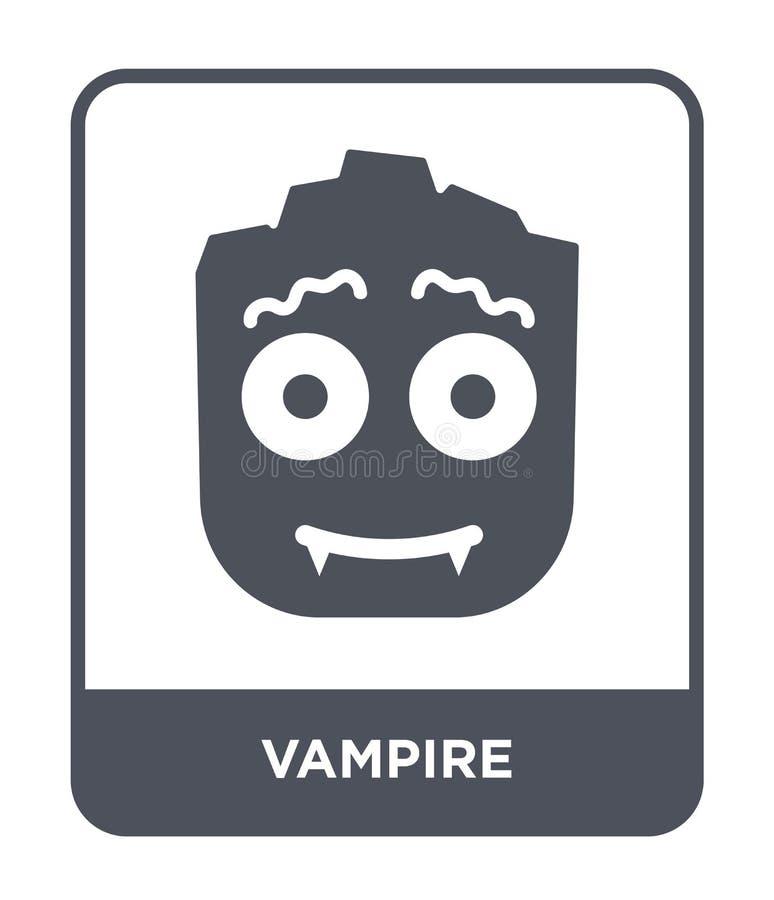 Vampirsikone in der modischen Entwurfsart Vampirsikone lokalisiert auf weißem Hintergrund einfaches und modernes flaches Symbol d stock abbildung