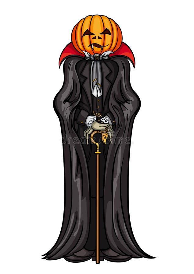 Vampyr för allhelgonaaftonpumpahuvud vektor illustrationer