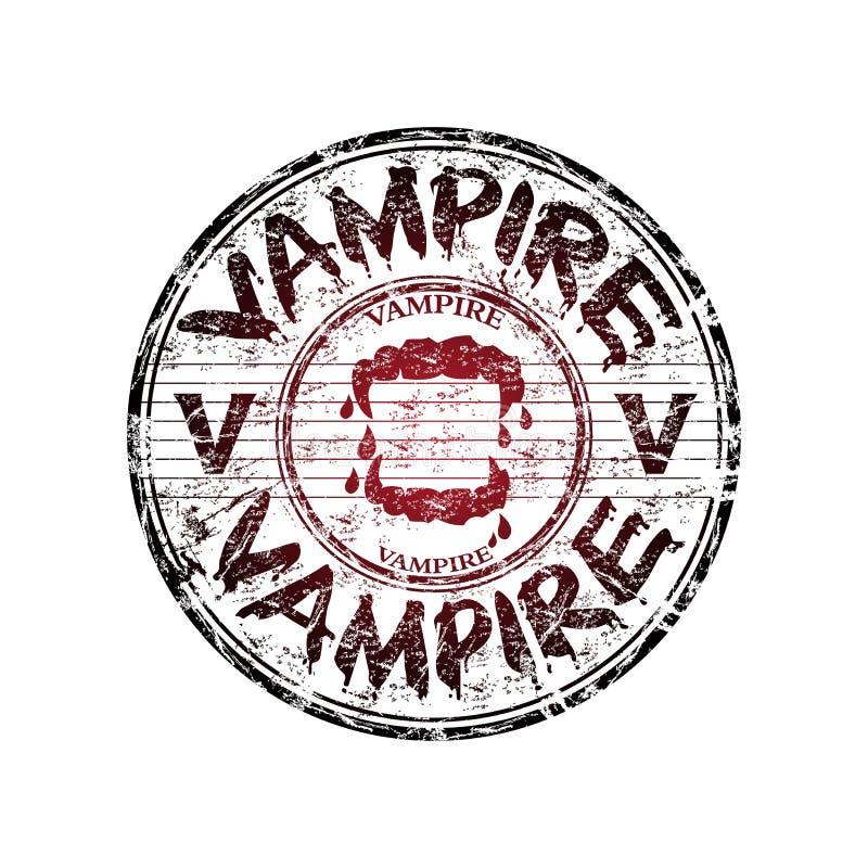 vampyr för rubber stämpel för grunge royaltyfri illustrationer