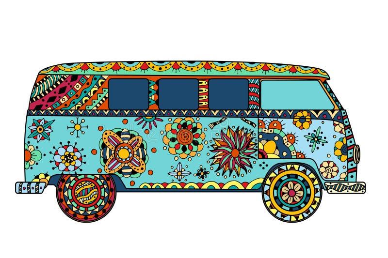 Van в стиле zentangle бесплатная иллюстрация