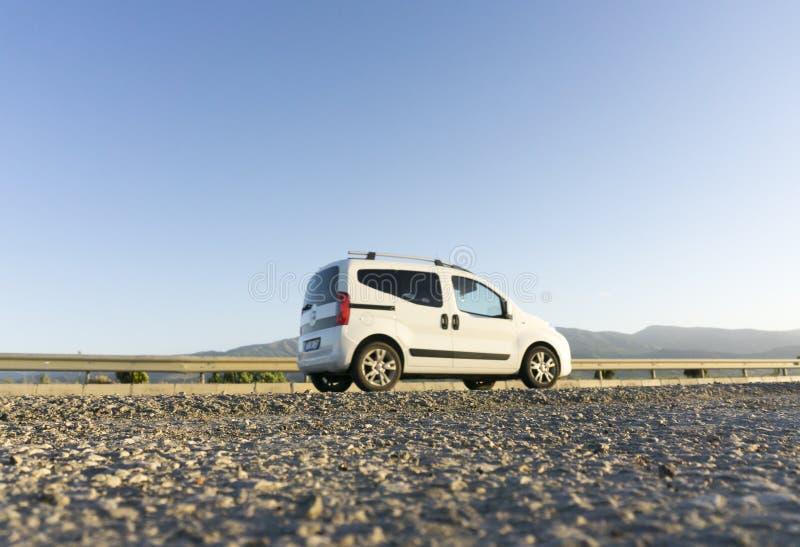Van на дороге стоковое изображение rf